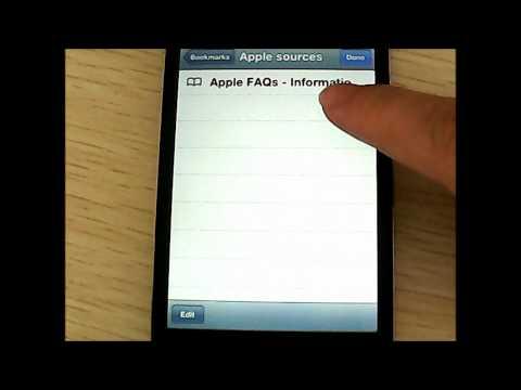 How to add/create bookmark folders in Safari on iPhone