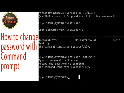 How to change password Window 7, 8, 10 with Command prompt
