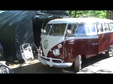 taking out the 67 vw bus
