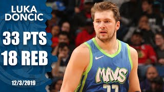Luka Doncic records 33-point, 18-rebound double-double in just 28 minutes | 2019-20 NBA Highlights