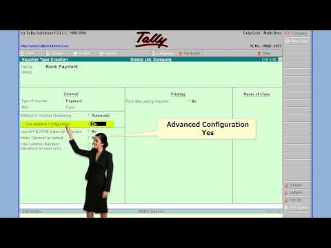 Tally 14 Create Bank Payment Voucher