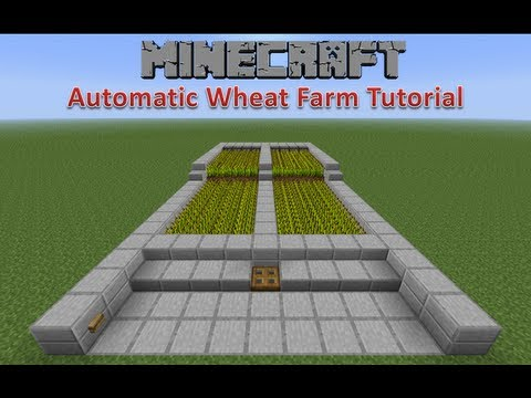 Minecraft Automatic Wheat Farm Tutorial