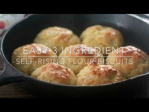 Easy 3 Ingredient Self-Rising Flour Biscuits