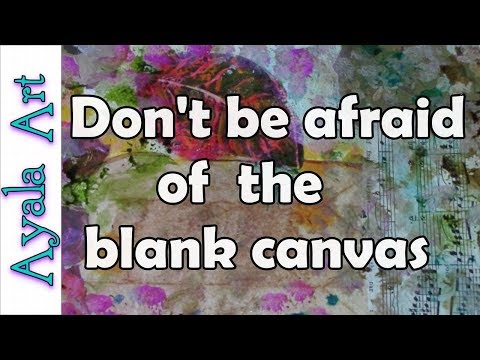 How not to be afraid of the blank canvas - Painting collaboration with Karli S by Ayala Art
