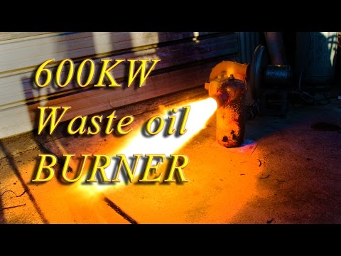 Most powerful waste oil Burner, 600KW heating power!