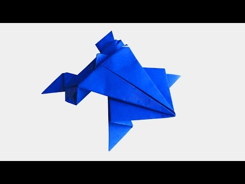 How To Make An ORIGAMI FROG That Jumps | Very Easy And Simple |DIY