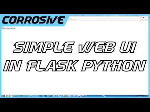 Simple WebUI With Flask and Python
