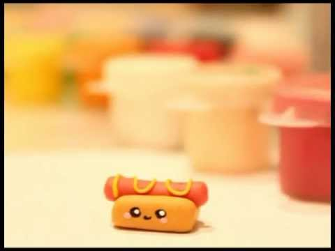 ◕‿◕ Hot dog! Kawaii Friday 24 (Tutorial in Polymer Clay)
