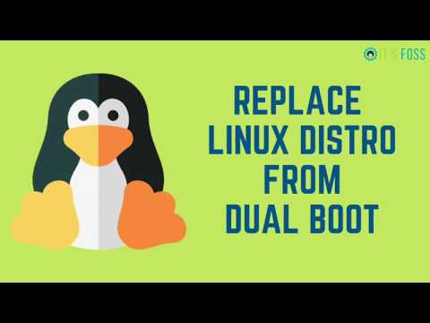 Replace One Linux Distribution With Another From Dual Boot [Keep Home Partition]