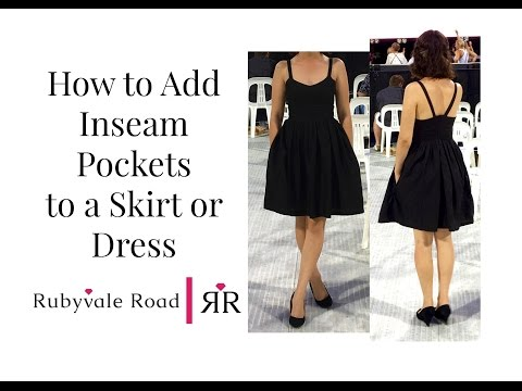 Inseam Pockets | How to Add Pockets to a Skirt or Dress