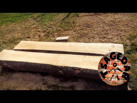 Podélný řez kmenu motorovou pilou / DIY Milling Lumber with the Timber jig Chainsaw mill