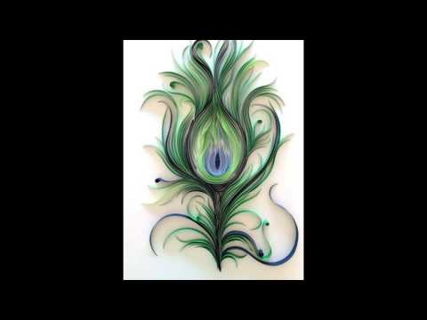 Paper Quilling || peacock feather design