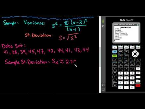 Variance and Standard Deviation with the TI-84