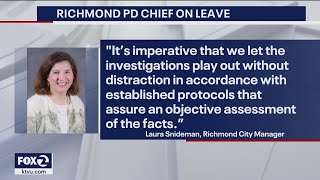 Richmond police chief placed on leave amid allegations she threatened to kill daughter's boyfriend