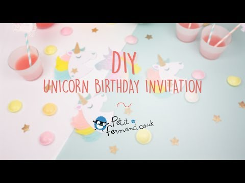 DIY Unicorn Birthday Invitations l Petit-Fernand
