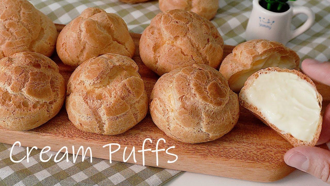 실패없는 슈크림 슈 만들기 (무조건 성공, 빵집 부럽지 않아요, 홈베이킹 레시피, 커스터드 크림 만드는 법, Cream Puffs)