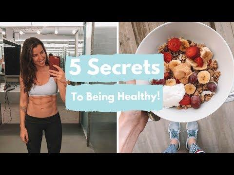 5 SECRETS TO BEING HEALTHY!   CARLYROWENA