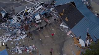 Drone footage shows aftermath of Fairfield Tornado