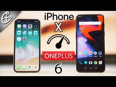 OnePlus 6 vs iPhone X - Ultimate Speedtest Comparison!