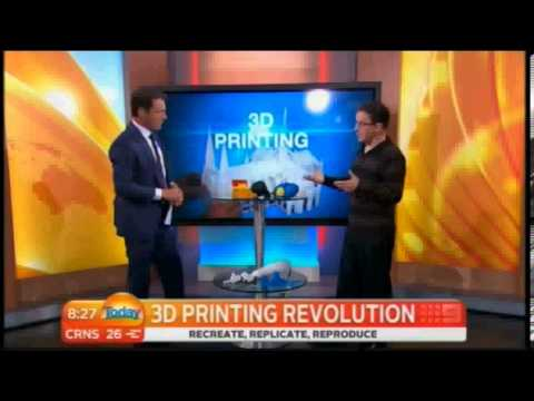 3D Printers on Today Show in Australia