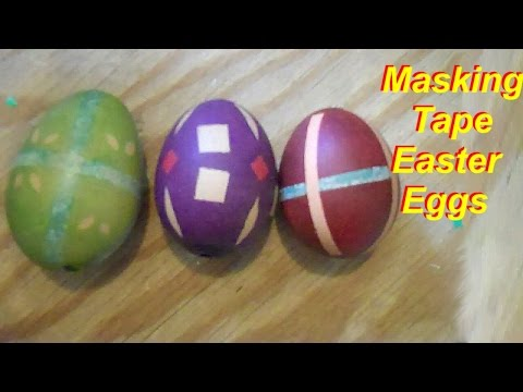 How to Dye Easter Eggs with Masking Tape