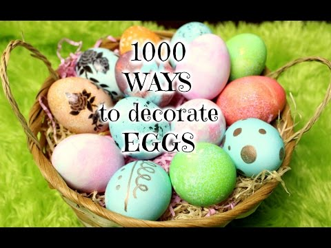 1000 WAYS to DECORATE EASTER EGGS ❤