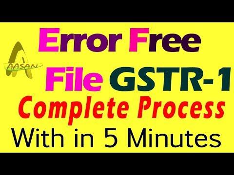 Errorfree File GSTR-1| Complete guide for GSTR-1| GSTR-1 Demo