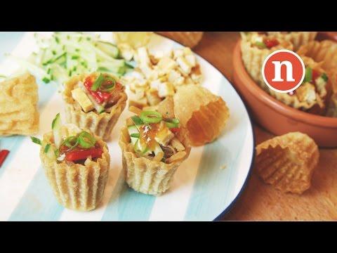 Crispy Pastry Tart with Yam Bean | Pai Tee | Pie Tee | Top Hats | 小金杯 [Nyonya Cooking]