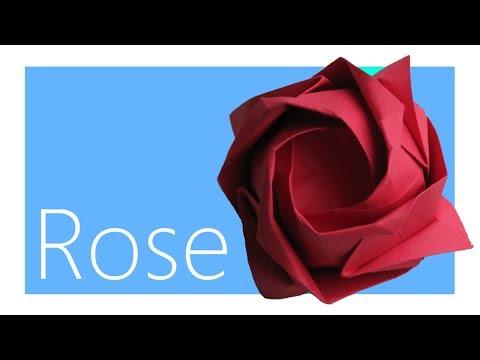 Rose Origami Tutorial (Toshikazu Kawasaki)