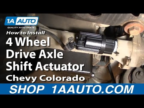 How To Install Replace 4 Wheel Drive Axle Shift Actuator Chevy Colorado 04-12 1AAuto.com