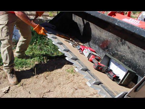 How to install Piranha Tooth Bar on your tractor Kubota, Kioti