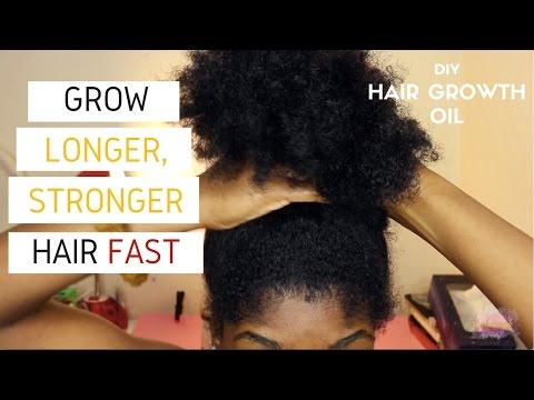 DIY Hair Growth Oil for LONGER, STRONGER Natural Hair