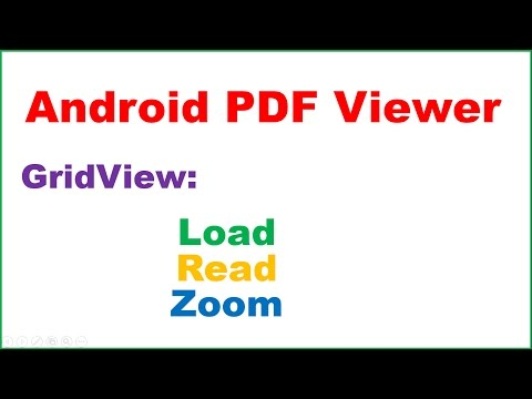 Android PDF Viewer Ep.01 : GridView - Load,Read,Zoom,Swipe,Scroll