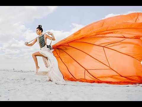 FASHION EDITORIAL PHOTOSHOOT- Parachute Dress Behind The Scenes