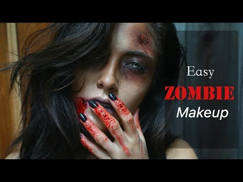 Easy Zombie Makeup using Makeup Geek Shadows | Melissa Alatorre