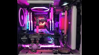 $6000 Watercooling PC Build in NZXT S340 ELITE - i7 7820X - SLI GTX 1080 Ti time lapse!