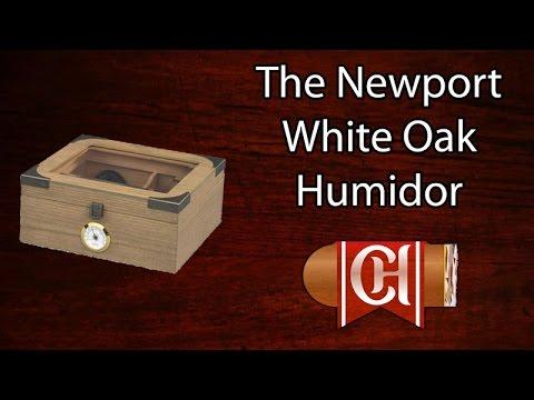 The Newport White Oak Humidor
