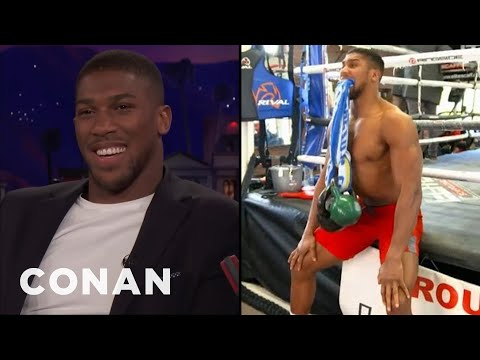 Anthony Joshua Can Lift Weights With His Mouth  - CONAN on TBS