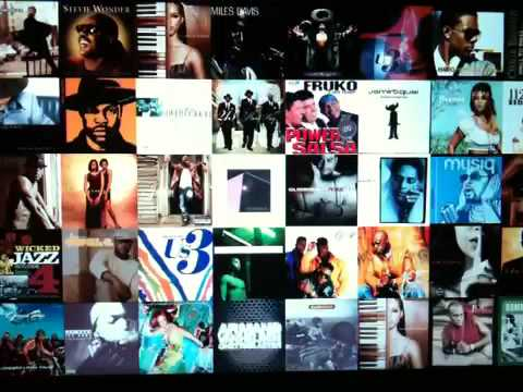 iPhone 3gs video of MacBook pro itunes art screensaver