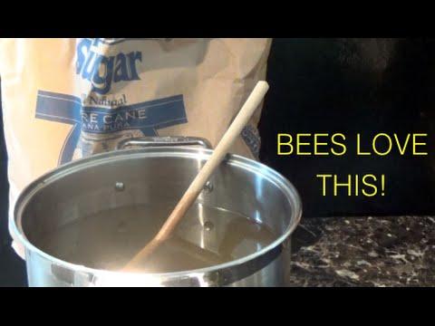 BEEKEEPING SUGAR WATER SYRUP FEED FOR BEES - SECRET INGREDIENT!!!!!!!