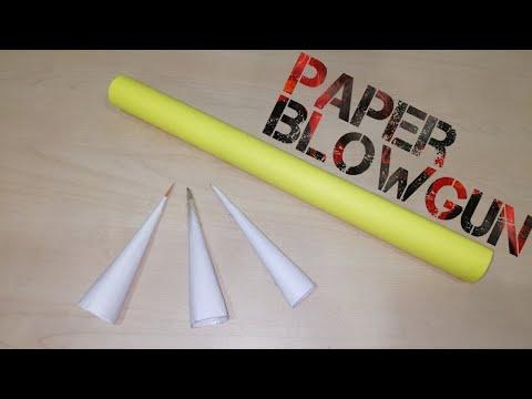 How To Make Paper Blowgun (Ninja Blowpipe) tutorial EASY - DIY Ninja Weapon