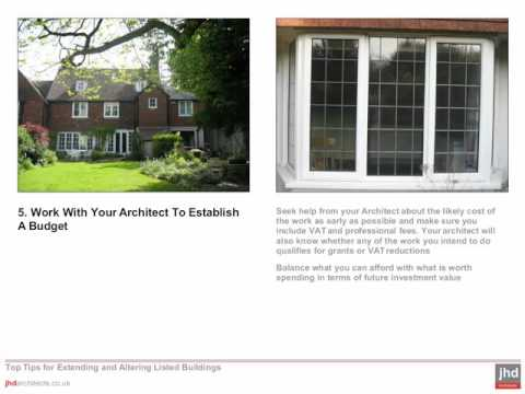 Top Tips for Extending and Altering Listed Buildings