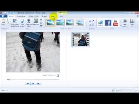 Module #2 - Trimming a Video Using Windows Live Movie Maker
