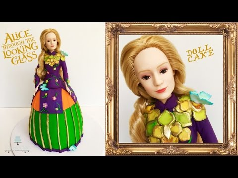 Alice in Wonderland Doll Cake | Alice Through the Looking Glass Cake