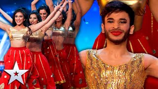 Bollywood group SURPRISE Simon Cowell!   Unforgettable Audition   Britain's Got Talent