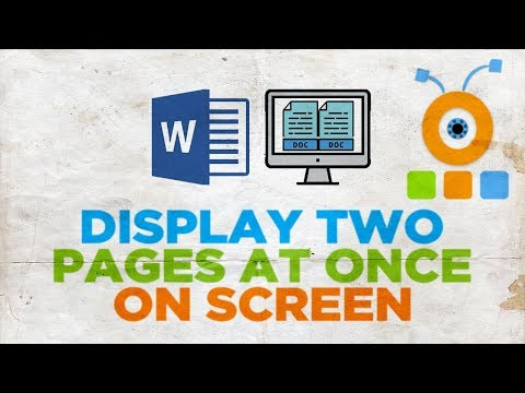 How to Display Two Pages at Once on Screen in Word 2019   How to View Two Documents Side by Side