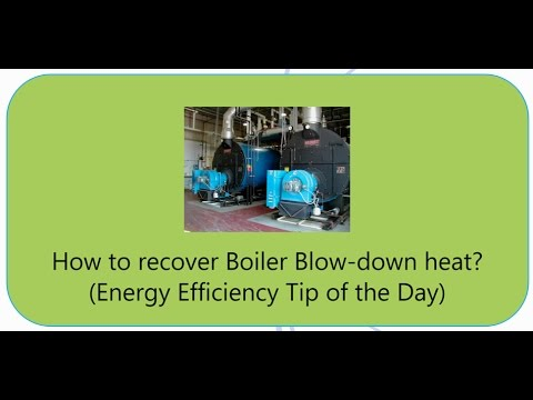 How to recover heat from Boiler blow-down?