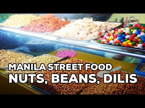 Must-Try Street Foods in Manila: Deep-fried Nuts, Sweet Beans, Dilis