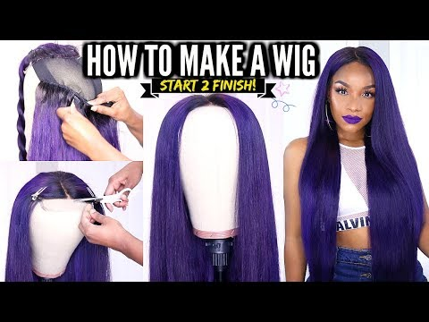How to Make a Wig START TO FINISH! | DIY Lace Closure Wig