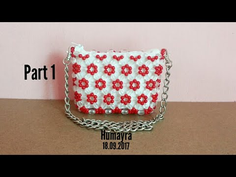 How to make beaded bag/ purse/ part 1/ Easy Technique